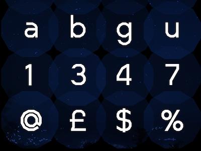 Dodeca Detail  data futurist visual ui ux letter typo typemake type font