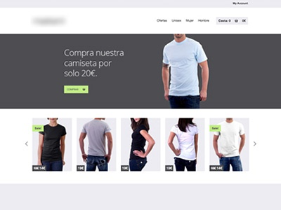 Old ecommerce template (year 2012) web design web website