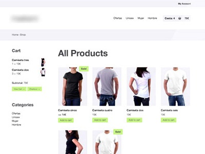 Old ecommerce template product view (year 2012) web design web website