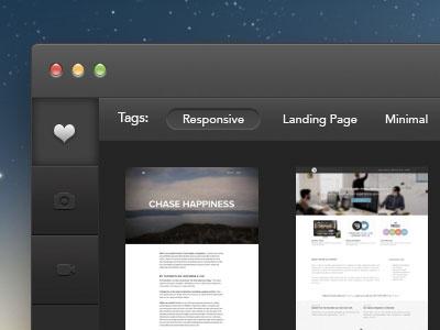 Capture App mac app ui desktop app mac