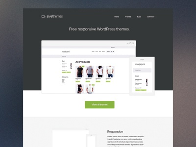 Sivethemes Homepage - WIP website responsive homepage web design responsive design rwd web