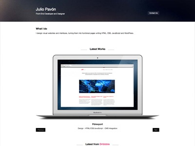 Portfolio redesign portfolio responsive website rwd personal web web design