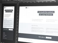 Web design agency concept