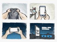 App Promo video storyboard #2