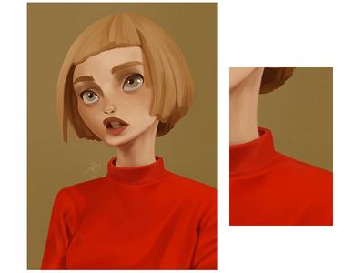 Short hair girl