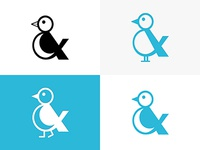 Little Bird Logo Variation branding creative vector illustration design logofolio logo bird debuts getdrafted dribbble