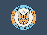 Wild animal logo badge stickers dribbble by queenmariadesign