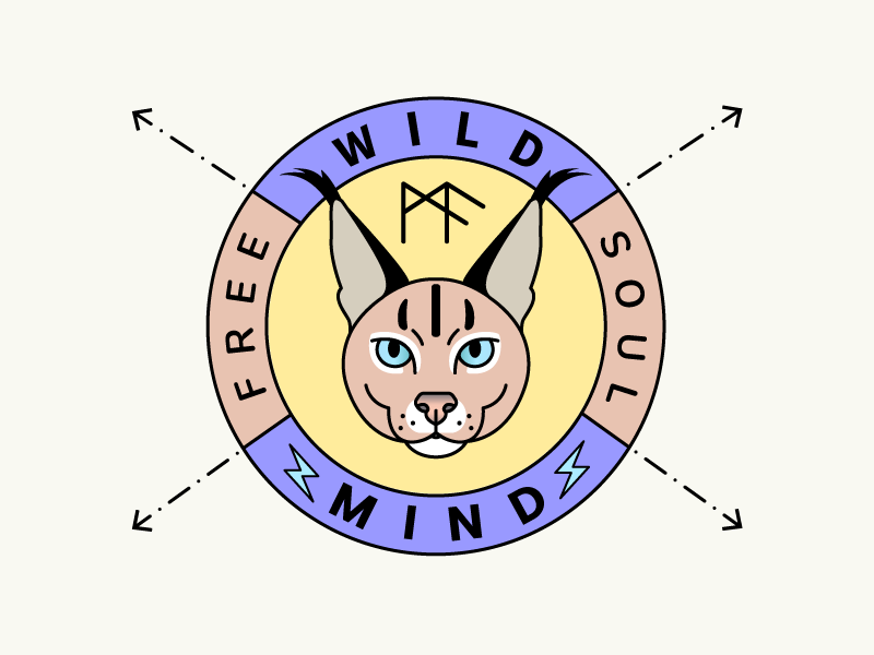 Wild animal logo badge dribbble shot by queenmariadesign