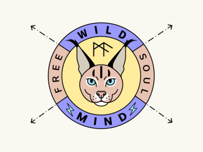 Wild Animal Logo Badge fun branding illustration wild animal badge logo stickers shot dribbble