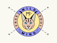 Wild Animal Logo Badge fun branding illustration wild animal badge logo stickers shot dribbble