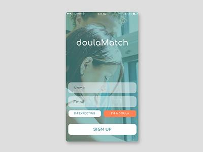 Daily UI #001 - Sign up screen doula uidesign mobile dailyui dailyui001