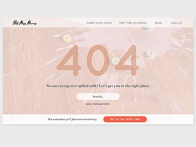 Daily UI 008: 404 Page wordpress web design uidesign ui freelance dailyui008 dailyui