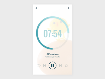 Daily UI 009: Audio Player