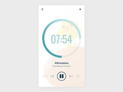 Daily UI 009: Audio Player affirmations meditation fertility ivf uidesign ui freelance dailyui009 dailyui