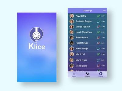 Klice social network social theme winter conversation group chat calling app old work old video calling mobile application ios