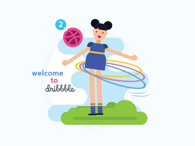 Dribbble Welcome welcome player onboard invites invitation entry dribbble invitation dribbble draftee draft