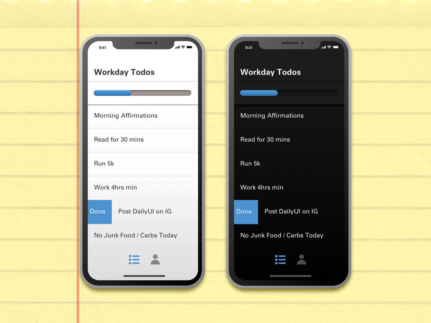 Simple Todo App Concept todo dark mode dailyui