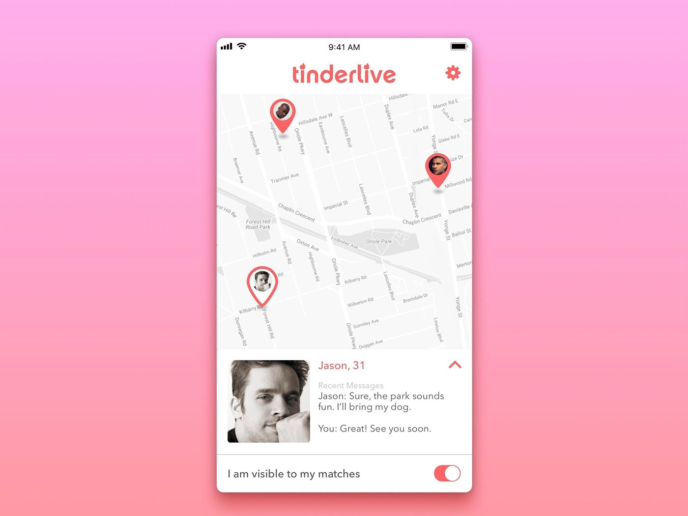 Tinder Live Feature app design uidesign