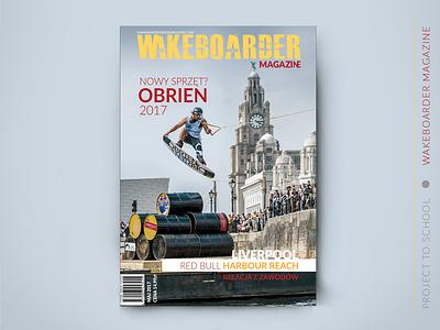 Cover Magazine sport wakeboarding illustrator photoshop design layouts cover magazine cover