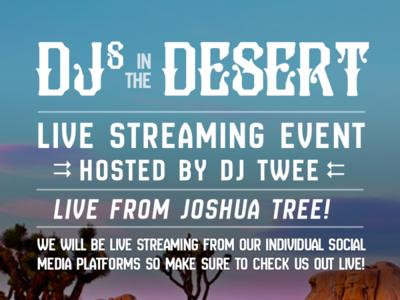 DJsIntheDesert flier design flyer