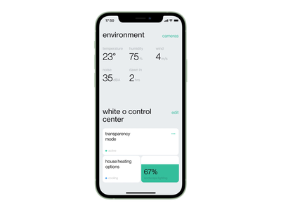 Smart Home × White O clean smart home mobile animation ios