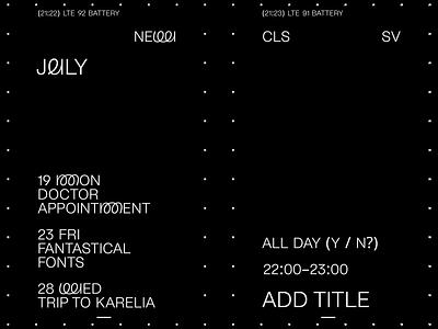 Google Calendar Concept app ios design interaction clean typography 3d animation ui