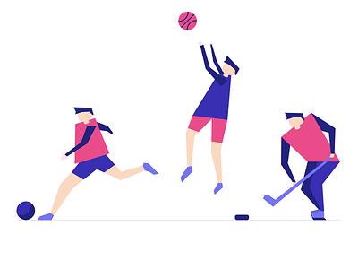 Sport Illustrations sport flat vector illustration