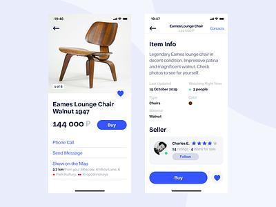 Classified App Concept white ux ui minimal mobile column design ecommerce clean app