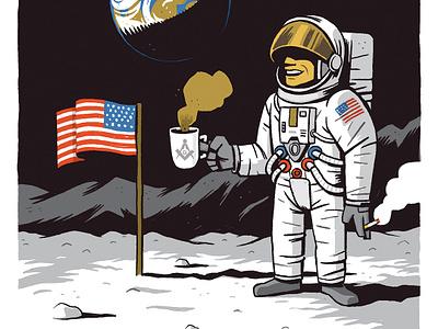 Fake Moon Landing apollo 11 conspiracy theory american flag cigarettes film set earth moon coffee neil armstrong fake moon landing