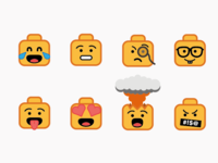 Lego Emojis illustration lego emojis