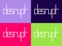 "Logo and Colour Concept for ""Desrupt"" app"