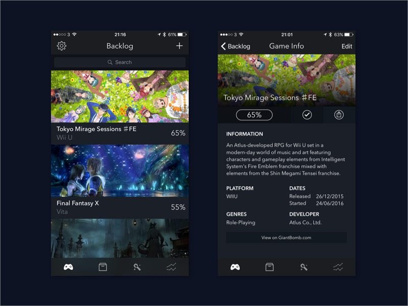 GameTrack - Track your video game backlog, archive & wishlist by Joe