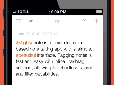 Mighty Note - Note View