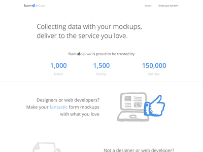 [WIP] Homepage for formdeliver homepage