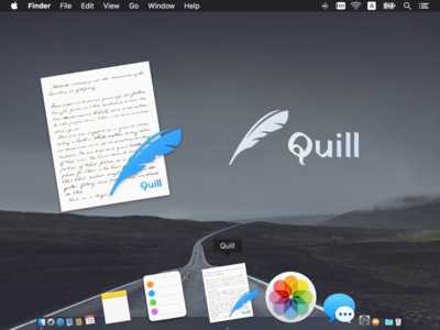 Icon for a writing app, Quill icon app