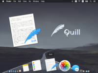 Icon for a writing app, Quill