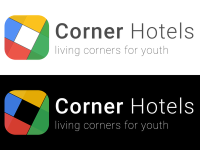 Corner Hotels, finding the best hotels in city logo