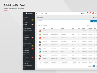 CRM Contact - Mash Able Admin Template
