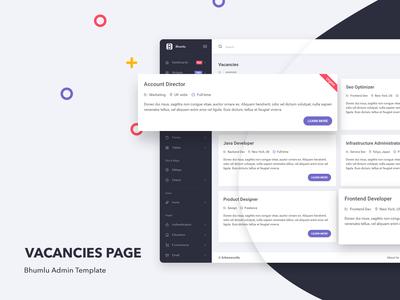 Vacancies Page - Bhumlu Admin Template