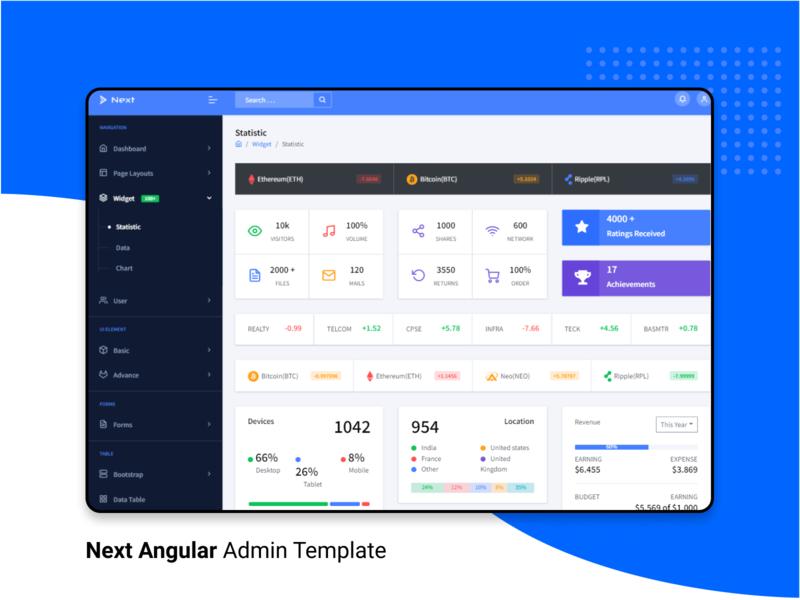 Next Angular Admin Template angular dashboard angularjs angular widgets design admin dashboard template dashboard admin template admin panel branding admin design admin theme ui  ux design admin dashboard