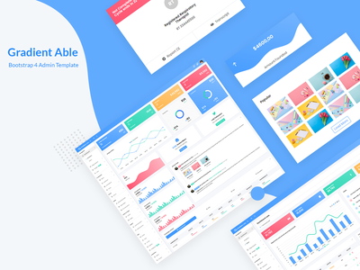 Gradient Able Bootstrap 4 Admin Template uidesign ui ux design ui design admin dashboard template admin sales dashboard sales analytics dashboard analytics chart analysis ui bootstrap 4 admin design branding admin panel admin theme ui  ux design sass admin template admin dashboard
