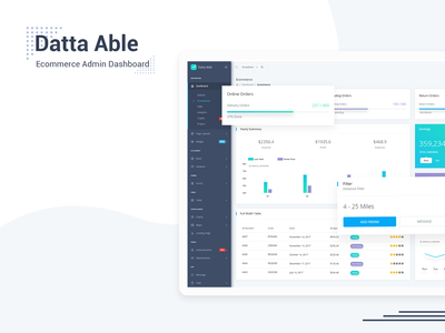 Ecommerce Dashboard - Datta Able Admin Template admin uidesign crypto react dashboard react admin template reactjs admin panel admin theme ui  ux design sass admin template project management analytics dashboard crm dashboard crm ecommerce dashboard ecommerce design ecommerce admin dashboard