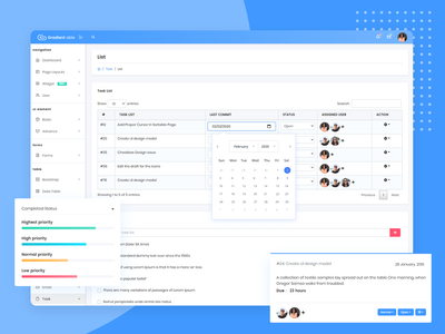 Task List Page - Gradient Able Admin Template uidesign uiux angular admin template angular dashboard angularjs angular admin ui admin design branding admin panel admin theme ui  ux design sass admin template admin dashboard task detail task list task management task
