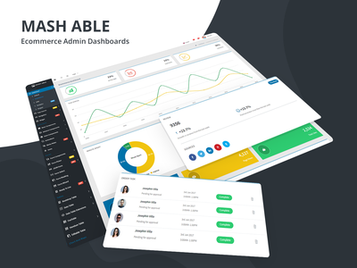 Ecommerce Dashboard - Mash Able Admin Template ui ux design angular admin template angular dashboard uidesign ui ecommerce design backend template professional design project dashboard analytics dashboard analytics ecommerce ecommerce dashboard ui  ux design sass admin template admin dashboard