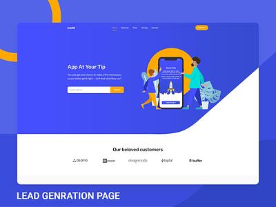 Lead Genration Page - Kraft8 Ui kit Template ui kit template design admin branding admin theme ui  ux design admin template admin dashboard bootstrap sass uidesign ui kit uiux ui lead generation