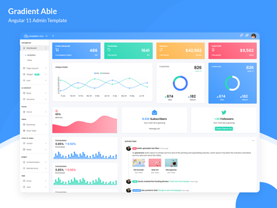 Gradient Able Admin Template ui ux design dashboard dashboard ui ui ux angular dashboard admin angular admin template ui admin design branding admin panel admin theme ui  ux design sass admin template admin dashboard angularjs angular