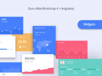 WIDGETS for Guru Able Admin Dashboard