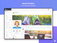 Social Timeline - Guru Able Admin Dashboard