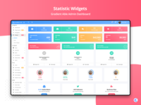 Statistic Widgets : Gradient Able Admin Dashboard