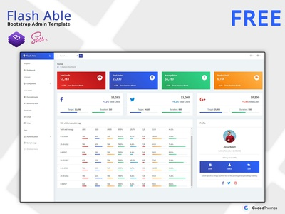 Free Flash Able Bootstrap Admin Template